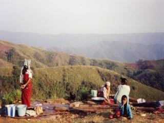 Khrang in de bergen-Assam