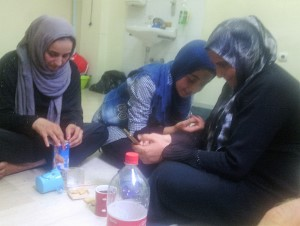 Pireaus-Griekenland-Vluchteling