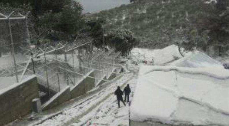 Hoera - sneeuw in Moria
