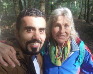 Met Hani in het bos